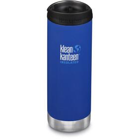 Klean Kanteen TKWide Borraccia con tappo caffè 473ml isolamento sottovuoto, blu